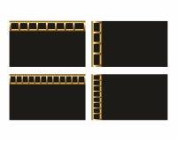 Schwarze Visitenkarteschablone Lizenzfreie Stockbilder