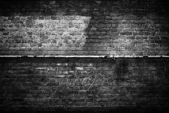 Schwarze Wände des Hintergrundes, dunkle Ziegelsteinbeschaffenheit für Design Stockfotografie