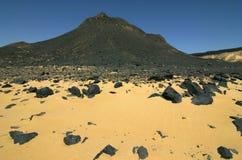 Schwarze Wüste Stockfoto