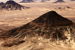 Schwarze Wüste in großem Sahara, Westägypten Stockbild