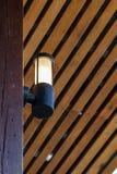 Schwarze Wandbeleuchtung der Helligkeit Stockfoto
