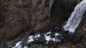 Schwarze Wasserfälle in Island 4K stock footage