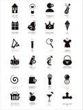 Schwarze Web-Ikonen stock abbildung