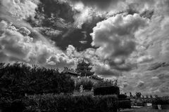 Schwarze Weiß Insel 1000 Patung Bintan Indonesien Lizenzfreies Stockbild