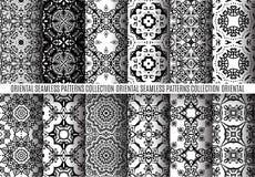 Schwarze weiße Arabesken-Muster Lizenzfreie Stockfotografie