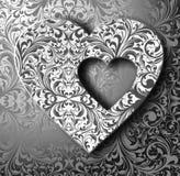 Schwarze/weiße Illustration des Herzens 3D Lizenzfreie Stockfotos