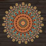 Schwarze weiße Karte der Verzierung mit Mandala stock abbildung