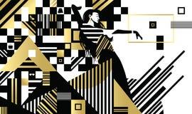 Schwarze weiße Mode-Linien Stockfotos