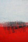 Schwarze, weiße, rote Acrylfarbe auf Metalloberfläche brushstroke Lizenzfreie Stockbilder