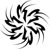 Schwarze weiße Strudel-Grafik Stockfotografie