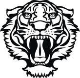 Schwarze/weiße Tätowierung des Tigers Stockfoto