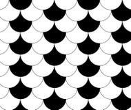 Schwarze weiße traditionelle Wellen-japanisches Chinese Seigaiha-Muster B Stockfotos