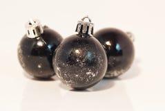 Schwarze Weihnachtsdekoration Stockbild