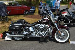 Schwarze Weinlese Harley Davidson delux stockbild