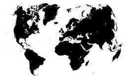 Schwarze Weltkarte Lizenzfreie Stockfotografie