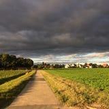 Schwarze Wolken Stockbild