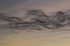 Schwarze Wolken Lizenzfreie Stockfotos
