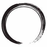 Schwarze Zen Circle Brush Vector Design-Illustration Lizenzfreie Stockfotos