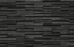 Schwarze Ziegelsteine planen Beschaffenheitshintergrund, Schiefersteinwandbeschaffenheit Lizenzfreies Stockbild