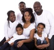 Schwarze zufällige Familie Stockfoto