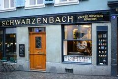 Schwarzenbachkoffie en Chocoladewinkel Stock Afbeeldingen