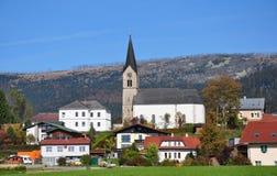 Schwarzenberg上午Boehmerwald,奥地利 免版税库存图片