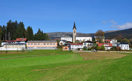 Schwarzenberg AM Boehmerwald, Αυστρία Στοκ Εικόνα