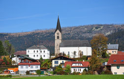Schwarzenberg am Boehmerwald, Oostenrijk Royalty-vrije Stock Afbeeldingen