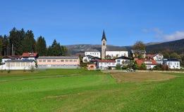 Schwarzenberg morgens Boehmerwald, Österreich Stockbild