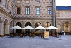 Schwarzenberg slott, Prague, Tjeckien Arkivfoton