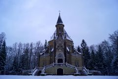 Schwarzenberg tomb, front view and stairway - winter time royalty free stock images