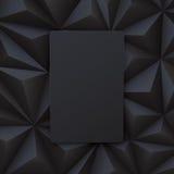 Schwarzer abstrakter Hintergrundvektor Lizenzfreie Stockbilder