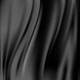 Schwarzer abstrakter Satintrennvorhanghintergrund Stockfotos