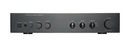 Schwarzer Audioverstärker Lizenzfreies Stockbild