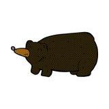 schwarzer Bär der lustigen komischen Karikatur Stockbilder
