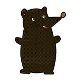 schwarzer Bär der lustigen komischen Karikatur Stockfotos
