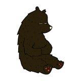 schwarzer Bär der netten komischen Karikatur Stockfotografie
