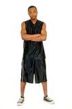 Schwarzer Basketball-Spieler lizenzfreie stockbilder
