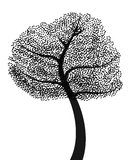 Schwarzer Baum Lizenzfreie Stockfotos