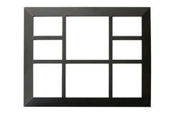 Schwarzer Bilderrahmen lokalisiert auf Weiß Stockfotografie