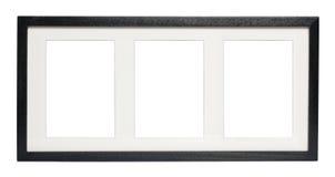 Schwarzer Bilderrahmen (mit Ausschnitts-Pfad) Stockfoto