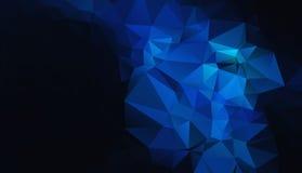 Schwarzer blauer geometrischer Hintergrund ENV 10 Lizenzfreie Stockbilder