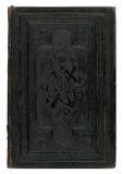 Schwarzer Bucheinband der Weinlese Stockfotografie