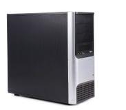 Schwarzer Computerkasten. Stockfotografie
