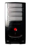 Schwarzer Computerkasten getrennt auf Weiß Lizenzfreies Stockbild