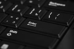 Schwarzer Computertastaturabschluß oben Stockfotografie