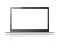 Schwarzer dünner Laptop Stockbild