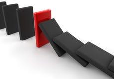Schwarzer Domino Stockfoto