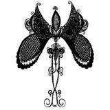 Schwarzer empfindlicher Schmetterling vektor abbildung