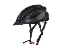 Schwarzer Fahrradsturzhelm Lizenzfreie Stockfotografie